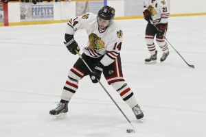 Meyer Nell made an  impact with 2 goals Friday night (D.Mahussier/1812 Photography)