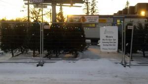 Charleswood Hawks Christmas Tree Lot at the Corner of Roblin and Princeton Boulevards